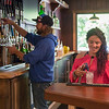 JOED VIERA/STAFF PHOTOGRAPHER-Lockport, NY-Shelly Elia and Danny Evans work behind the bar at Sunset Grill.