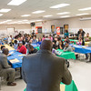 JOED VIERA/STAFF PHOTOGRAPHER-Lockport, NY-Joe Poole addresses students participating in the Empowers program during a end of the year party.