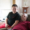 JOED VIERA/STAFF PHOTOGRAPHER-Lockport, NY-Charlie Baggett and his father Ken Baggett in their home. Charlie potentially saved his fathers life when he called 911 when he saw signs of a diabetic attack.