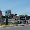 JOED VIERA/STAFF PHOTOGRAPHER-Lockport, NY-A number of students cross the big bridge on their way to the Lockport Caves.