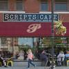 JOED VIERA/STAFF PHOTOGRAPHER-Lockport, NY-Patrons enjoy the weather at Scripts Cafe on Main Street.