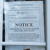 JOED VIERA/STAFF PHOTOGRAPHER-Lockport, NY- A notice is posted on a house on Independance Drive that has been vacant for close to five years.