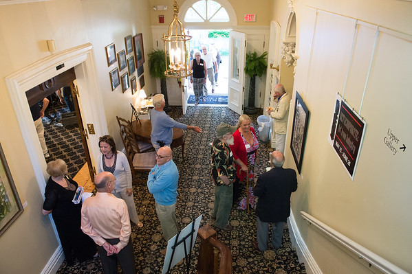JOED VIERA/STAFF PHOTOGRAPHER-Lockport, NY- Art lovers pack the Kenan House during a preview event for a new installation.