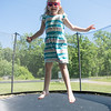 JOED VIERA/STAFF PHOTOGRAPHER-Barker, NY-  Ruth-Ann Daily jumps on a trampoline in front of her grandparents home.
