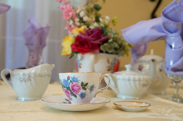 JOED VIERA/STAFF PHOTOGRAPHER-Appleton, NY-A tea party set up at Marjim Manor.