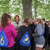 JOED VIERA/STAFF PHOTOGRAPHER-Lockport, NY-Students surround Lockport Mayor Anne McCaffrey during a safe routes to school event at Joe Kibbler Park.