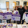 JOED VIERA/STAFF PHOTOGRAPHER-Lockport, NY-Relay For Life members are busy getting the word out about Saturday's big event in Lockport. Assembling signs for the community are Wendy Milliman, Nancy Middaugh, Meg Wager, originator of the Barker Relay Darlene Lutz and Roberta Callaghan. The 2016 RFL shirts are given to anyone raising $100 or more for the ACS.