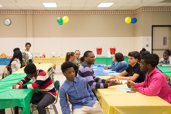 JOED VIERA/STAFF PHOTOGRAPHER-Lockport, NY-Students participating in the Empowers program celebrate the end of the year at a party.