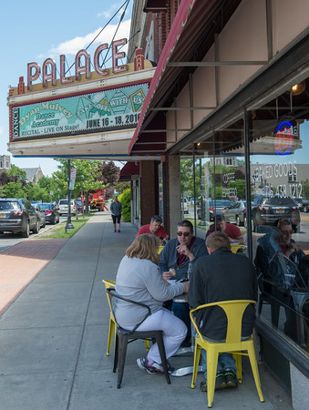 JOED VIERA/STAFF PHOTOGRAPHER-Lockport, NY-Patrons enjoy the weather at Scripts on Main Street.
