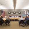 JOED VIERA/STAFF PHOTOGRAPHER-Pendleton, NY-Local officials meet to discuss changing the speed limit on Mapleton Road at Starpoint.