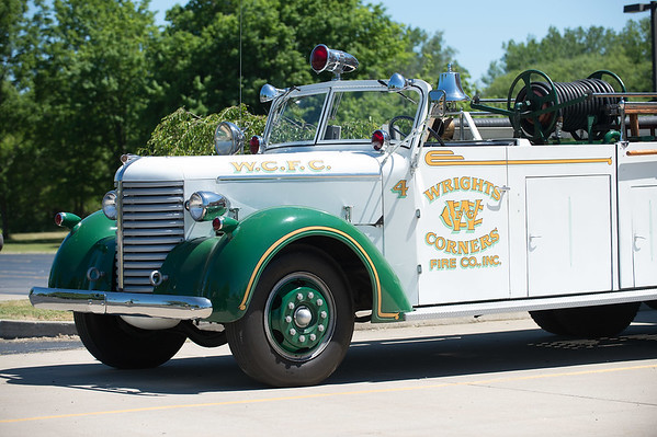 JOED VIERA/STAFF PHOTOGRAPHER-Wrights Corners, NY-A Wrights Corner Fire Company Engine is parked outside the station.