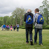 JOED VIERA/STAFF PHOTOGRAPHER-Lockport, NY-Aidan Everett 11 and Clay Foster 11 operate a geocaching device at Joe Kibbler Park.