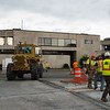 JOED VIERA/STAFF PHOTOGRAPHER-Lockport, NY-Crews set up for work on the city parking lot.