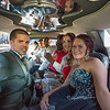 JOED VIERA/STAFF PHOTOGRAPHER-Lockport, NY- Students pack into a Limo and head to prom after taking pictures at Childrens Memorial Park.