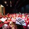 JOED VIERA/STAFF PHOTOGRAPHER-Pendleton, NY-Stairpoint Seniors wait to graduate on the Starpoint stage.