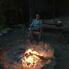 TOASTED MARSHMALLOWS...THEN JUST RELAXED....STAN KOENIG AT THE FIRE
