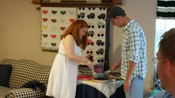 Kelly and Ryan's wedding shower 7-9-16