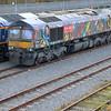 66718 tnt 66713 arrives Tonbridge Yard on RHTT.
