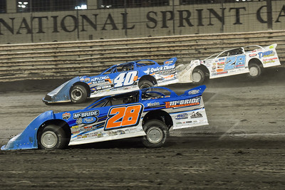 Dennis Erb, Jr. (28), Kyle Bronson (40B) and Jimmy Mars (28)