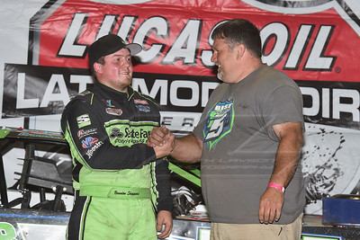 Brandon Sheppard (L) and crew chief Randall Edwards (R)