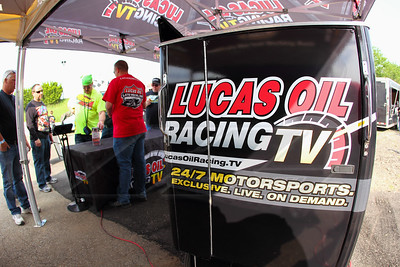 Lucas Oil Racing TV midway display