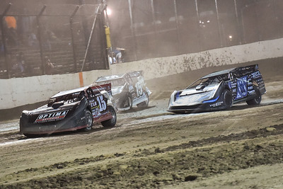 Steve Francis (15), Scott Bloomquist (0) and Darrell Lanigan (15)