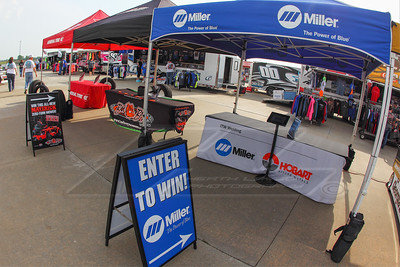Miller Welders, Bad Boy Mowers and General Tire midway displays