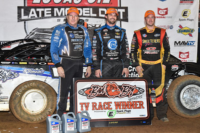 Scott Bloomquist (L), Jared Landers (C) and Tim McCreadie (R)