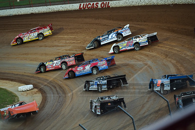 Tim McCreadie (39), Jonathan Davenport (6), Terry Phillips (75), Tad Pospisil (04), Earl Pearson, Jr. (1), Josh Poe (4), Dave Eckrich (58), and Dennis Erb, Jr. (28)