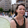 Ffi at the fountain on Place des Jacobins