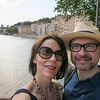 Selfie on a bridge across the River Saône