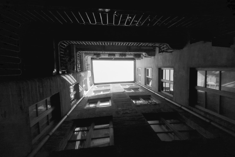 A traboule courtyard view