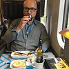 Enjoying the hospitality on the Eurostar