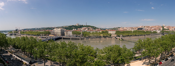 Panorama of Lyon, shot from our hotel window