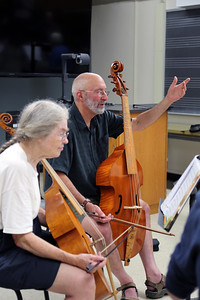 """Viol and Violin Technique,"" taught by MEMF faculty Robert Eisenstein (pictured right)"