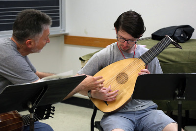 """Renaissance Lute Technique,"" taught by MEMF faculty Ronn McFarlane (pictured left)"
