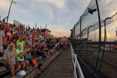 Race fans at Macon Speedway