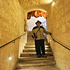 William on the stairs to St. Paul's Grotto, St. Paul's Catacombs and the WWII Shelters