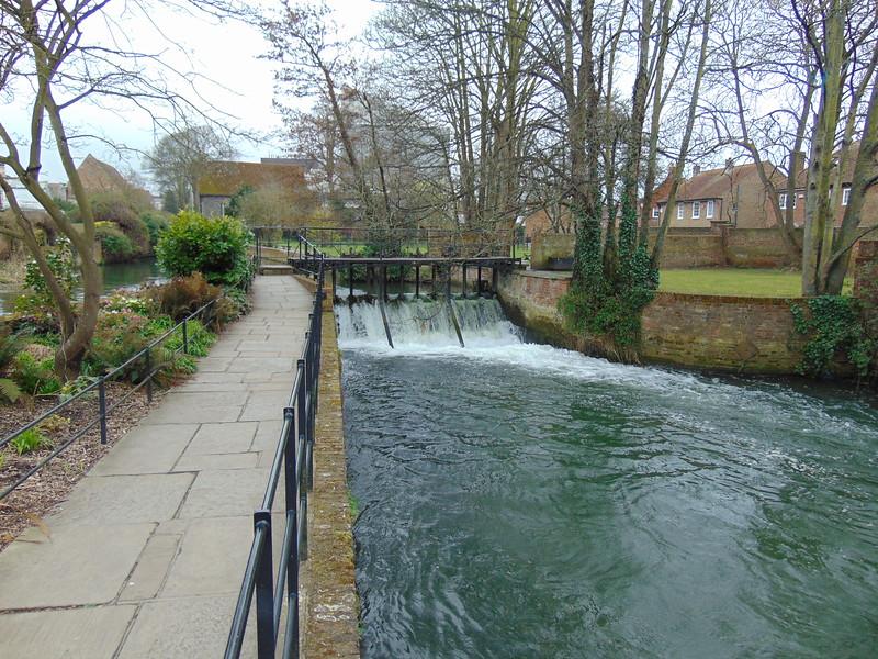 The River Stour passing through Canterbury.