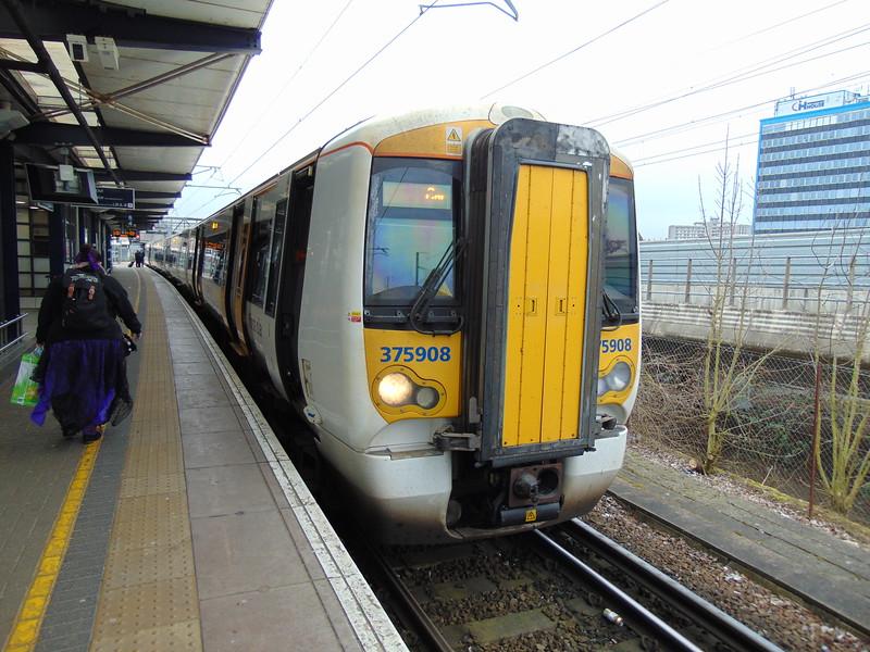 Southeastern Class 375 Electrostar no. 375908 at Ashford International.