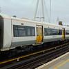 Southeastern Class 376 Electrostar no. 376027 trailer no. 64327 at London Charing Cross.