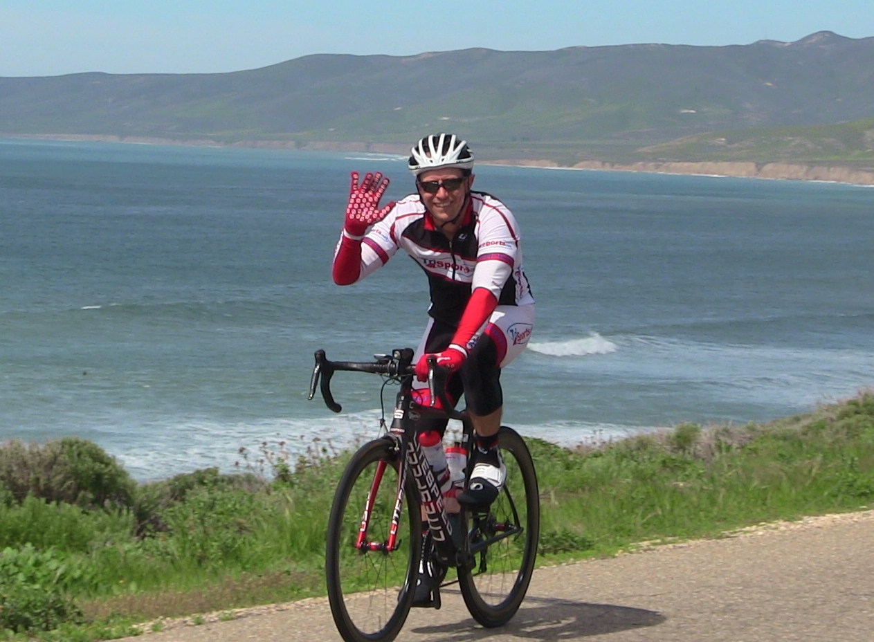 Seton from TriSports.com joined in the fun on Jalama Beach Road