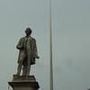 Sir John Gray and the Dublin Spire on O'Connell Street.