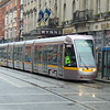 Dublin Luas Alstom Citadis tram no. 4002 on Abbey Street with a Red Line service to Tallaght.