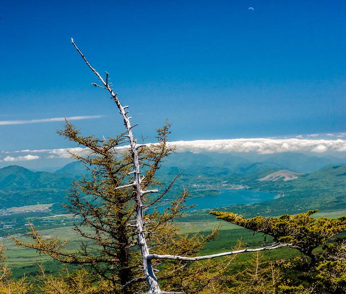 Ashinoko Lake from Mt Fuji 5th station