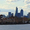 The City of London skyline, seen from the Docklands.