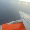 Flying over Loch Neagh approaching Belfast International on EasyJet Airbus A319 G-EZBY.
