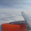 Flying from Birmingham to Belfast International on EasyJet Airbus A319 G-EZBY.