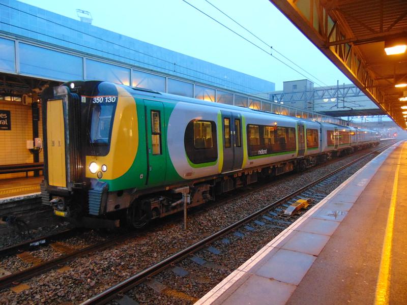 London Midland Class 350 Desiro no. 350130 at Milton Keynes Central on the 05:37 to Birmingham.