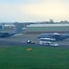 US Air Force Lockheed C-130 Hercules aircraft at Belfast International Airport.